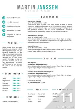 CV sjabloon
