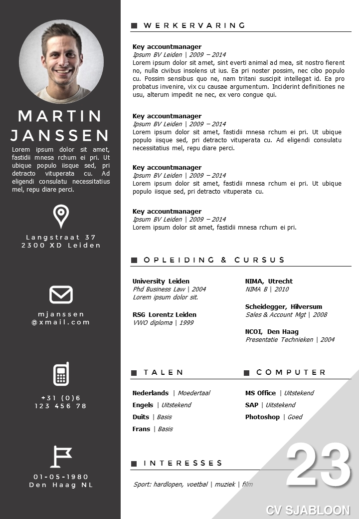 curriculum vitae voorbeeld accountmanager