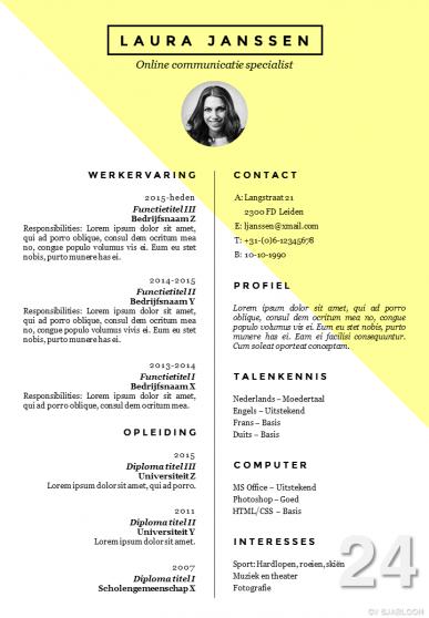 CV sjabloon 24