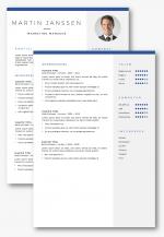 CV sjabloon 30 2 pagina's
