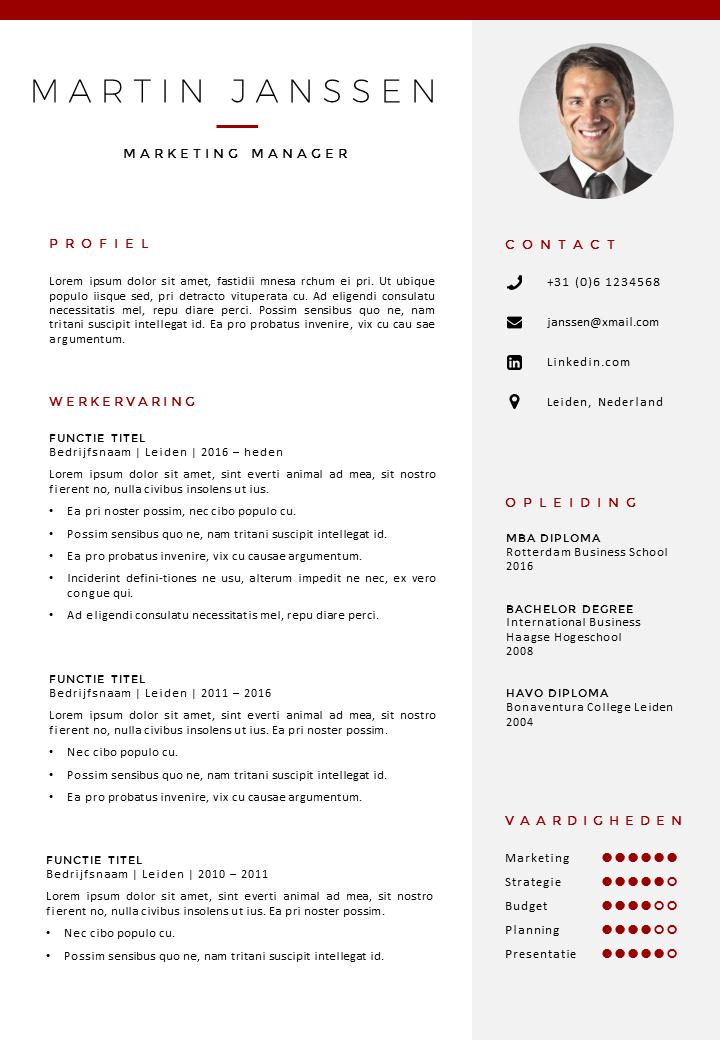 CV sjabloon Word