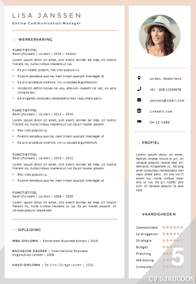CV sjabloon 5