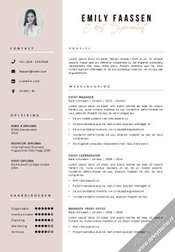 design cv template voor Word
