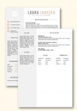CV sjabloon 25b, inclusief volgpagina