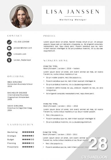 CV sjabloon 28