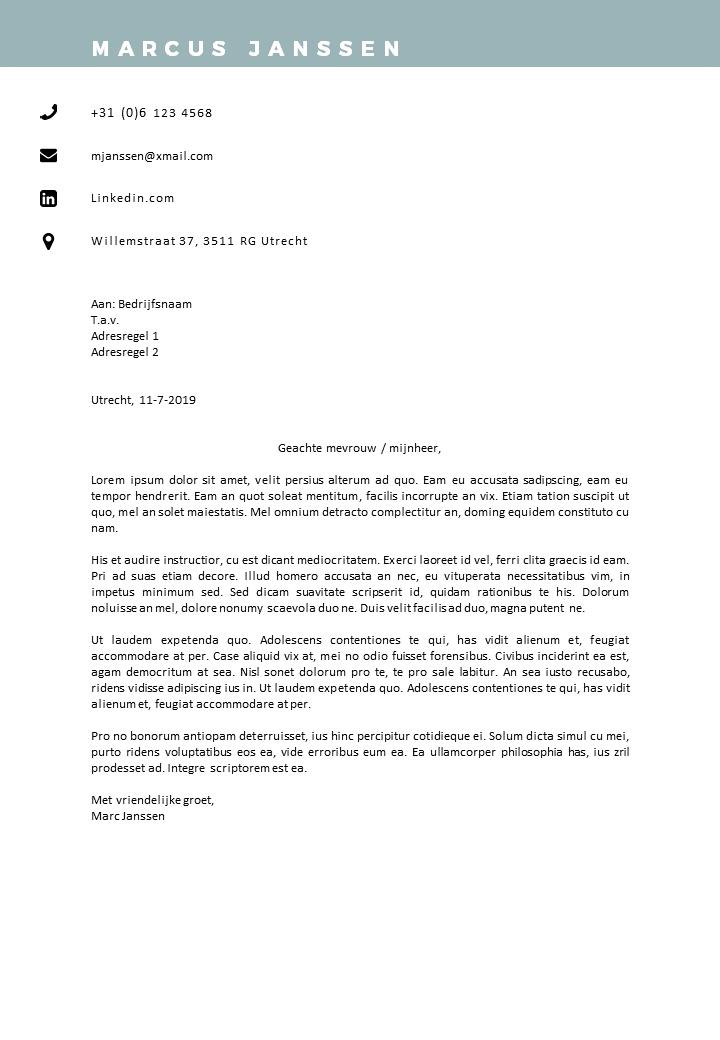 Voorbeeld sollicitatiebrief